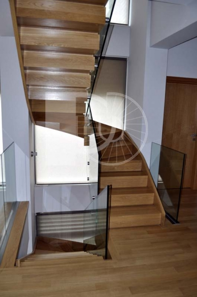 NEW PROJECT WOOD-GLASS STAIR